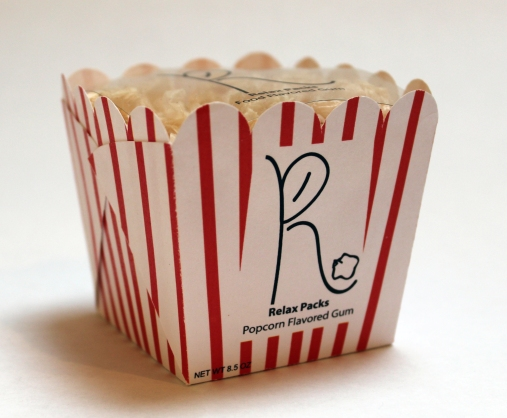 Relax Packs Popcorn Gum (turned)