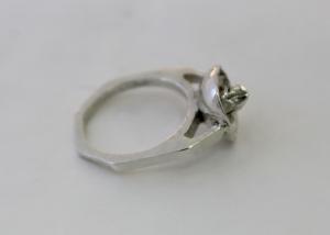 Silver Cast Ring alone